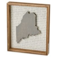 Primitives by Kathy® 12-Inch x 10-Inch Maine Wood Wall Art