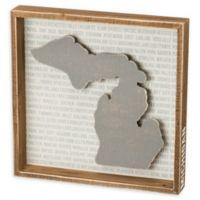 Primitives by Kathy® 12-Inch x 12-Inch Michigan Wood Wall Art