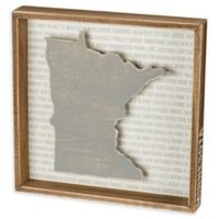 Primitives by Kathy® 12-Inch x 12-Inch Minnesota Wood Wall Art