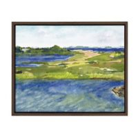 Marsh 18-Inch x 24-Inch Framed Canvas Wall Art