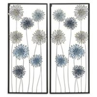 Ridge Road Décor Floral Metal Wall Art (Set of 2)