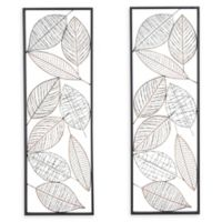 Ridge Road Décor Leaves Metal Wall Art (Set of 2)