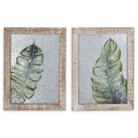 12-Inch x 16-Inch Framed Wall Art in Brown/green Set of 2