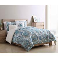 VCNY Home Eloise Reversible 5-Piece Full/Queen Comforter Set in Blue