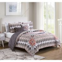 VCNY Home Valeria Reversible Full/Queen Duvet Cover Set in Blush Pink