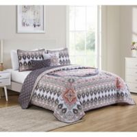 VCNY Home Valeria Reversible Twin Quilt Set in Blush Pink
