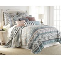 Levtex Home Addie Reversible Full/Queen Quilt Set in Blue/Pink