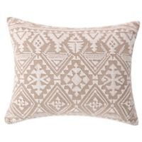Levtex Home Ellie Oblong Throw Pillow in Taupe/White