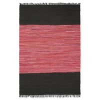 "ECARPETGALLERY Sienna 5'3"" X 8' Braided Area Rug in Black/salmon"