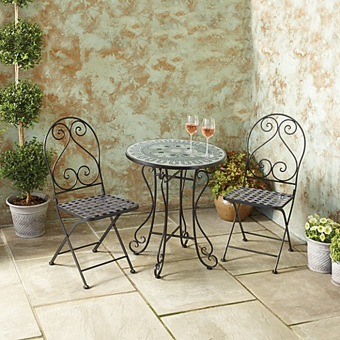 Piece Mosaic Bistro Set Bed Bath Beyond - Bed bath and beyond outdoor furniture