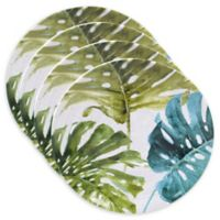Certified International Mixed Greens Palm Leaves Dinner Plates (Set of 4)