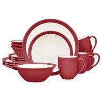 Noritake® Colorwave Curve 16-Piece Dinnerware Set in Raspberry