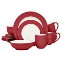 Noritake® Colorwave Rim 16-Piece Dinnerware Set in Raspberry