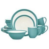 Noritake® Colorwave Curve 16-Piece Dinnerware Set in Turquoise