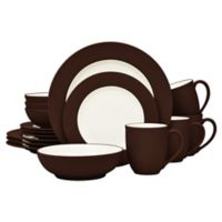 Noritake® Colorwave Rim 16-Piece Dinnerware Set in Chocolate
