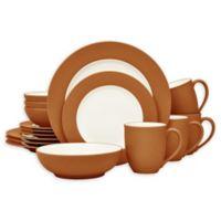Noritake® Colorwave Rim 16-Piece Dinnerware Set in Terra Cotta