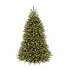 National Tree Company 7.5-Foot Dunhill Fir Pre-Lit Christmas Tree with Dual Color® Lights