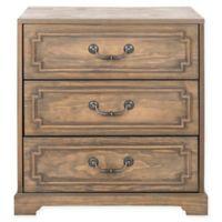 Safavieh Leighton 3-Drawer Nightstand in Weathered Oak