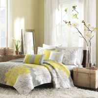 Madison Park Lola Quilted California King Coverlet Set in Yellow