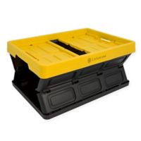 Lotus USA™ Foldable 33 qt. Hardside Storage Crate in Yellow