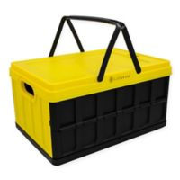 Lotus USA™ Foldable 33 qt. Hardside Basket Storage Crate in Yellow
