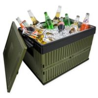 Lotus USA™ Foldable 60 qt. Cooler & Crate in Green