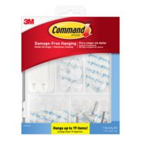 3M Command 19-Pack Variety Hanging Kit in Clear