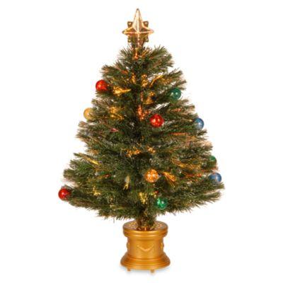 32 inch fiber optic fireworks fiber inner ornament tree - Colored Christmas Tree