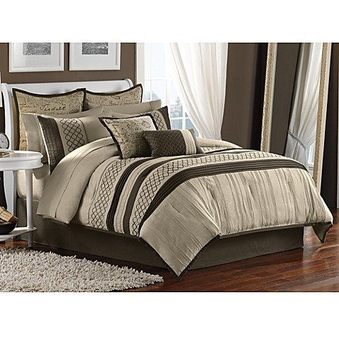 Tuscany 12 piece comforter set bed bath beyond - Bed bath and beyond bedroom furniture ...