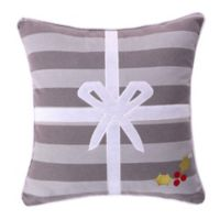 Levtex Home Snowflake Present Throw Pillow in Grey