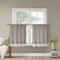 Madison Park Brynn 24-Inch Kitchen Window Curtain Tier Pair in Taupe
