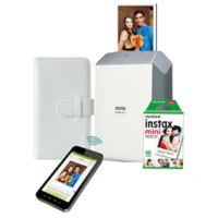 Fujifilm Instax® Share Smartphone SP-2 Printer and Instax Square 10-Pack Film Bundle