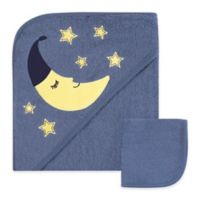 Hudson Baby® Hooded Towel with Washcloth in Blue