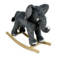 PonyLand Plush Rocking Elephant in Grey