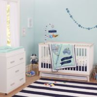 Just Born® One World™ Collection Dear World 3-Piece Crib Bedding Set in Blue