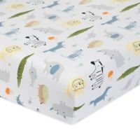 Just Born® One World™ Collection Dear World Fitted Crib Sheet in Blue