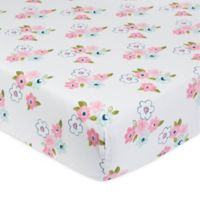 Just Born® One World™ Collection Blossom Fitted Crib Sheet in Pink
