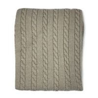 Nipperland® Boutique Cable Knit Throw Blanket in Soft Beige