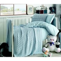 Nipperland® Patchwork Natural 6-Piece Crib Bedding Set in Blue