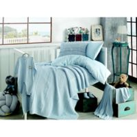 Nipperland® Heritage Natural 6-Piece Crib Bedding Set in Blue