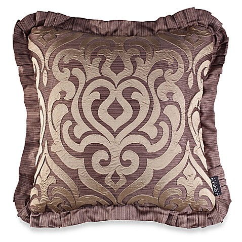 J. Queen New York Luxembourg Square Throw Pillow in Mink - Bed Bath & Beyond