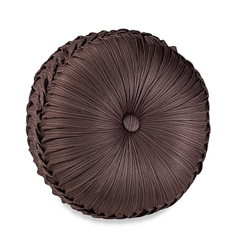 Throw Pillow Round : J. Queen New York Luxembourg Tufted Round Throw Pillow in Mink - Bed Bath & Beyond
