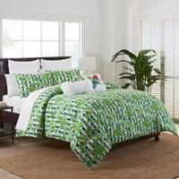 Coastal Life Luxe Freemont Full/Queen Comforter Set in Green