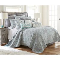 Levtex Home Tania Reversible Twin Quilt Set in Grey/Blue