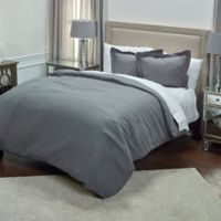 Rizzy Home Covington Queen Duvet Cover in Charcoal