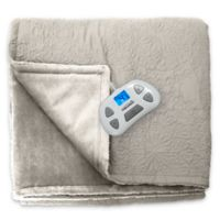 Therapedic® Quilted Medallion Warming Twin Blanket in Taupe