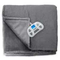 Therapedic® Quilted Medallion Warming Twin Blanket in Grey