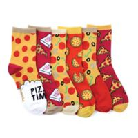 Pizza One-Size 6-Pack Smelly Socks