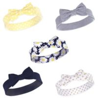 Hudson Baby® Size 0-24M 5-Pack Daisy Headbands in Yellow