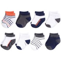 Yoga Sprout Size 6-12M 6-Pack No-Show Ankle Socks in Orange